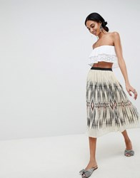 B.Young Ikat Print Pleated Skirt Combi 1 Multi
