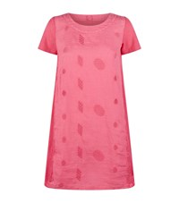 120 Lino Embroidered Linen Dress Pink