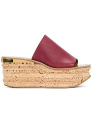 Chloe Camille Wedges Red