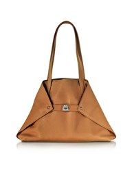 Akris Ai Small Cuoio Leather Tote Bag Brown