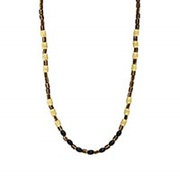 Caputo And Co. Beaded Necklace Gold
