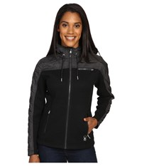 Spyder Ardour Mid Weight Core Sweater Insulated Jacket Black Black Multi Fabric Women's Coat