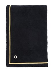Alessandro Di Marco Cotton Terrycloth Beach Towel Black Gold
