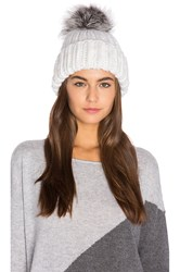 Eugenia Kim Rain Artic Fox Fur Beanie White