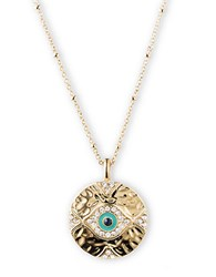 Lonna And Lilly Goldtone Evil Eye Pendant Necklace Blue