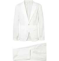 Ann Demeulemeester Unstructured Woven Cotton Suit White
