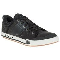 Merrell Rant Canvas And Leather Lace Up Trainers Black