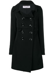 Christian Dior Vintage 2000 Double Breasted Peacoat Black