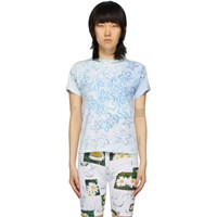 Collina Strada White And Blue Sporty Spice T Shirt