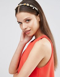 Johnny Loves Rosie Harriet Rose And Pearl Headband Black Gold
