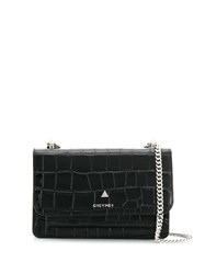 Grey Mer Chain Strap Shoulder Bag Black