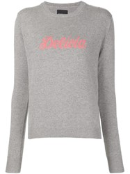 Alexander Lewis 'Delicia' Knit Sweater Grey