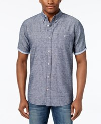 Weatherproof Linen Dobby Shirt Only At Macy's Midnight