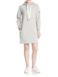 Marc By Marc Jacobs Cozina Hooded Sweatshirt Dress Grey