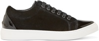 Mother Of Pearl Black Velvet Alden Sneakers