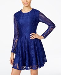 American Rag Juniors' Lace A Line Dress Only At Macy's Blue