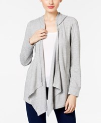 Inc International Concepts Hooded Open Front Cardigan Only At Macy's Light Grey