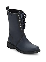 Rag And Bone Lace Up Rain Boots Navy