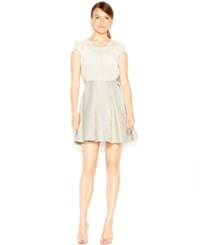 Bcbgeneration Pleated Chiffon Party Dress White