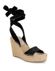 Kenneth Cole Odile Lace Up Espadrilles Black