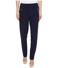 Calvin Klein Straight Leg Pants With Buckle And Zip Twilight Women's Casual Pants Blue