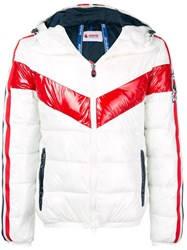 Invicta Stripe Puffer Jacket White