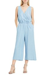 Vince Camuto Women's Two By Surplice Chambray Culotte Jumpsuit