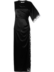Givenchy Asymmetric Gathered Gown Black