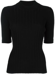 Maison Martin Margiela Ribbed Knitted Top Black
