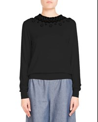 Andrew Gn Long Sleeve Knit Pullover Black