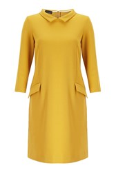 James Lakeland Shirt Neck Dress Yellow