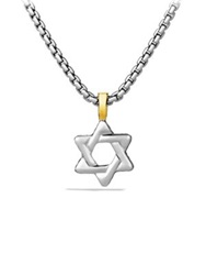 David Yurman Cable Classics Gold Star Of David Necklace Silver Gold