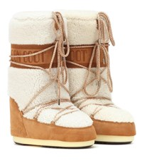 Moon Boot Wool And Suede Boots White