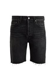 Balenciaga Raw Edge Denim Shorts Black