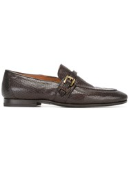 Silvano Sassetti Buckle Loafers Brown