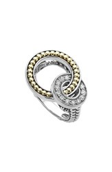 Lagos 'S Enso Diamond Ring Silver