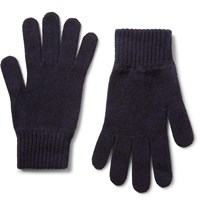 Johnstons Of Elgin Cashmere Gloves Blue