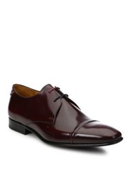 Paul Smith Solid Leather Oxfords Burgundy