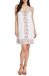 Willow And Clay Embroidered Shift Dress Vellum