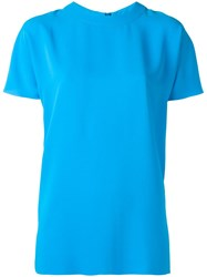 Cedric Charlier Short Sleeve Blouse Blue