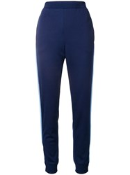 Prada Side Stripe Track Pants Blue