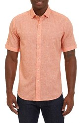 Robert Graham Men's Ronny Sport Shirt Orange
