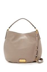 Marc By Marc Jacobs New Q Hillier Leather Hobo Gray