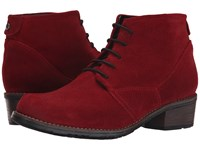 Wolky Erne Oxblood Suede Women's Lace Up Boots Burgundy