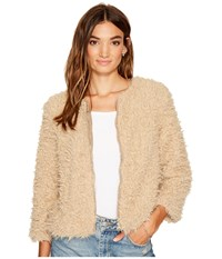 Bb Dakota Macy Faux Fur Jacket Light Camel Women's Coat Tan