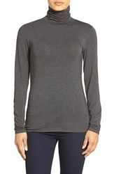 Women's Nordstrom Collection 'Ultimate' Stretch Modal Turtleneck Top Grey Stonehenge Heather