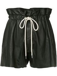 Bassike Ruffle High Waist Shorts Black
