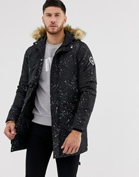Hype Splatter Parka Jacket Black