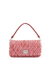 Miu Miu Crystal Collection Gingham Shoulder Bag Red Rosso