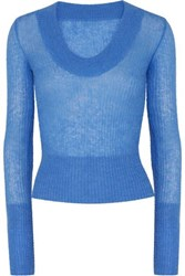 Jacquemus Dao Knitted Sweater Blue